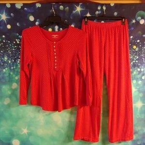 Victorias secret red polkadot pajamas. Small p